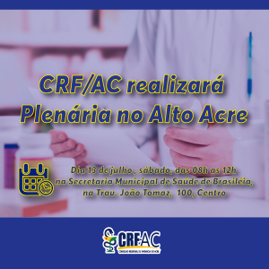 CRF realizará Plenária no Alto Acre